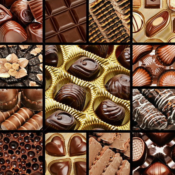 collage of chocolates and biscuits. Stock photo © serg64