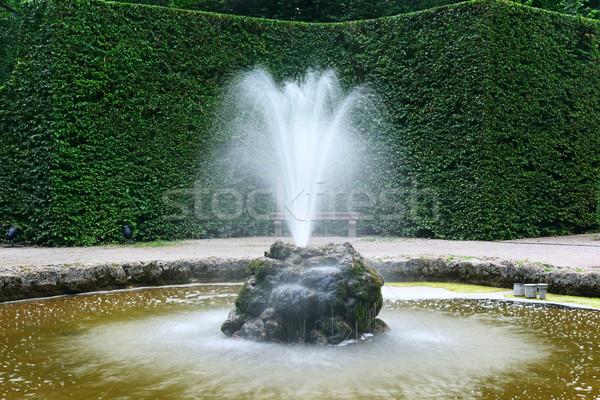небольшой фонтан парка улице деревья красоту Сток-фото © Serg64