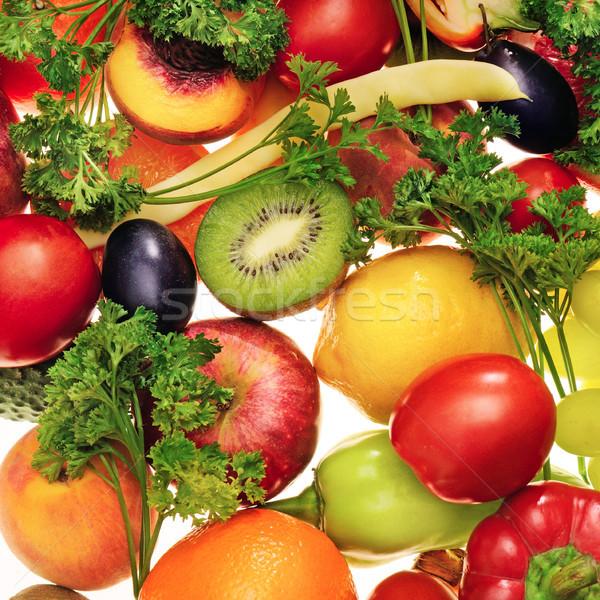 Fresco frutas legumes isolado branco fundo Foto stock © serg64