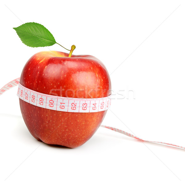 red apple and measure tape Stock photo © serg64