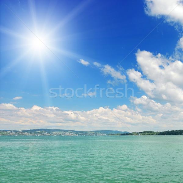 太陽 海 海景 水 自然 背景 ストックフォト © Serg64