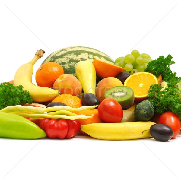 Meyve meyve arka plan turuncu yeşil renk Stok fotoğraf © Serg64