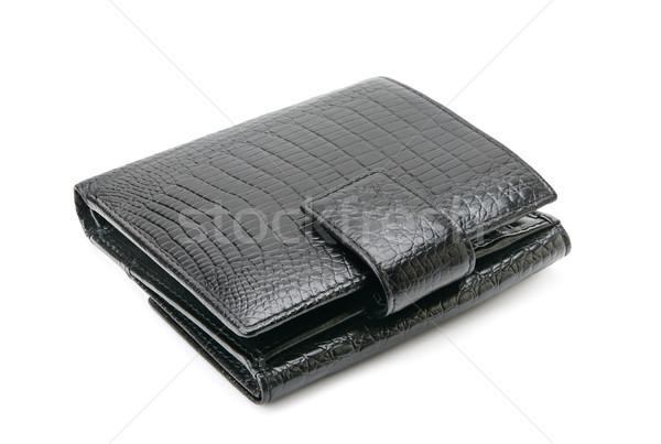 кожа кошелька изолированный белый деньги бумаги Сток-фото © serg64