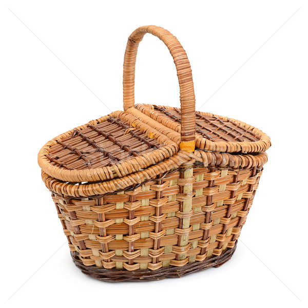 wicker basket with lid Stock photo © serg64