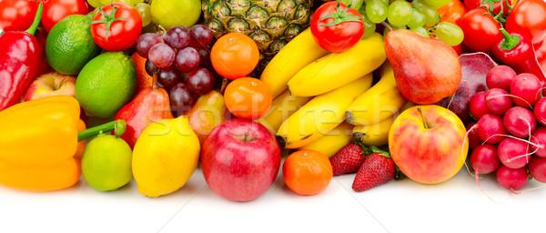 Raccolta succosa frutti verdura isolato bianco Foto d'archivio © Serg64