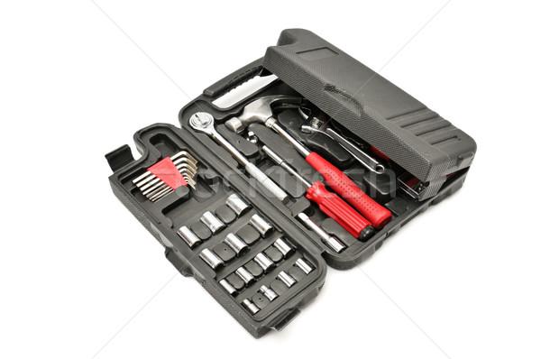 Conjunto ferramentas isolado branco mão edifício Foto stock © Serg64