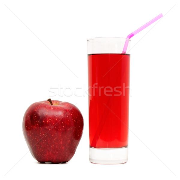 Vidro suco maçãs isolado branco comida Foto stock © Serg64