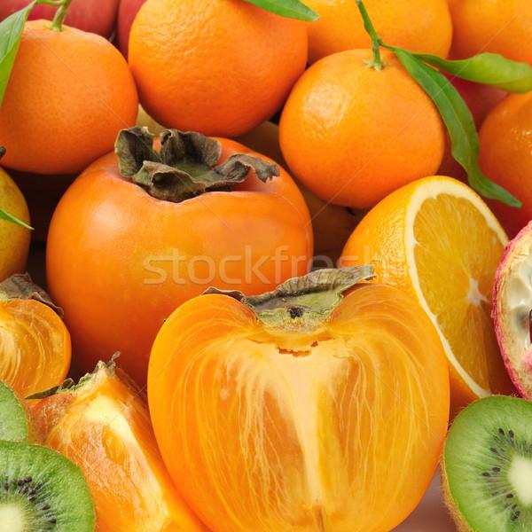 Gyűjtemény gyümölcsök étel alma gyümölcs háttér Stock fotó © serg64