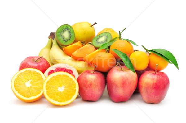 Stok fotoğraf: Toplama · meyve · yalıtılmış · beyaz · gıda · elma
