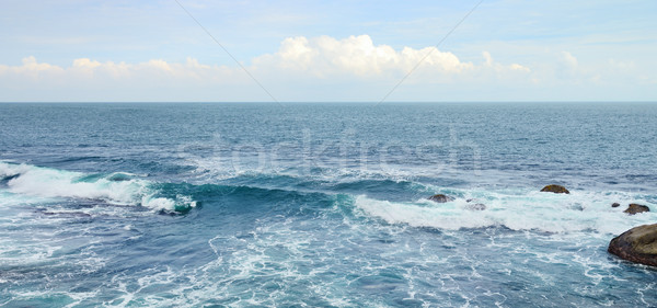 Beautiful ocean waves and blue sky Stock photo © serg64