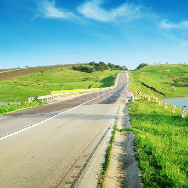 道路 地形 ツリー 雲 春 道路 ストックフォト © Serg64