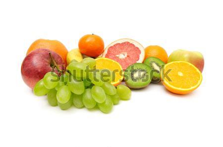 Vers fruit witte vruchten achtergrond oranje Stockfoto © Serg64