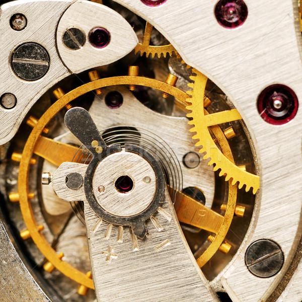 Relógio indústria tempo ciência ouro ver Foto stock © Serg64
