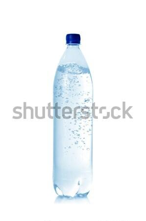 минеральная вода бутылку изолированный белый фото падение Сток-фото © Serg64