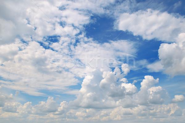 Beyaz bulutlar mavi gökyüzü gökyüzü doğa manzara Stok fotoğraf © serg64