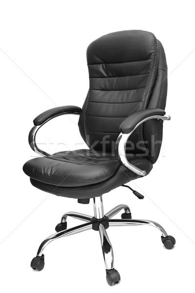 Ofis koltuğu yalıtılmış beyaz iş çalışmak Metal Stok fotoğraf © Serg64