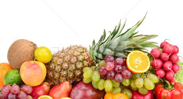 Collectie vruchten groenten geïsoleerd witte appel Stockfoto © serg64