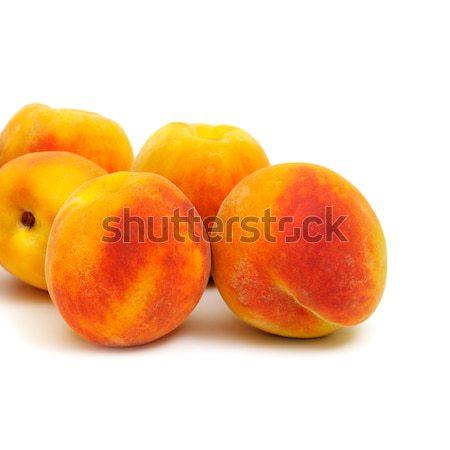 Duraznos aislado blanco fondo grupo frutas Foto stock © Serg64