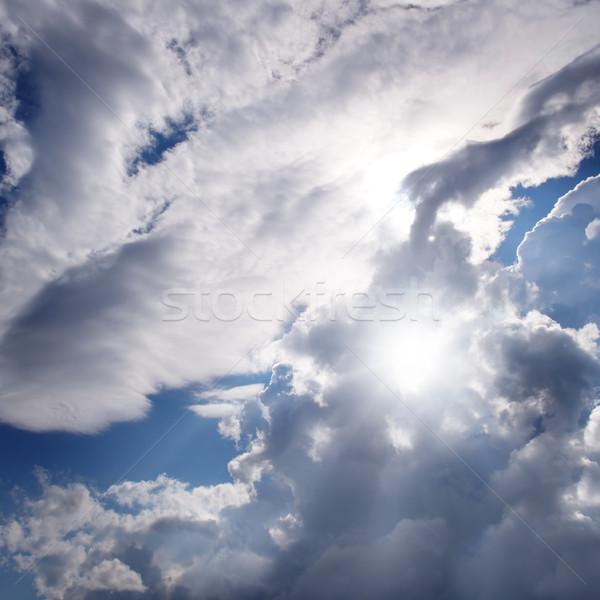Güneş güzel gökyüzü mavi gökyüzü bulutlar ışık Stok fotoğraf © serg64