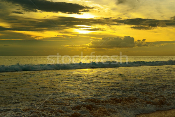 beautiful sunrise over the ocean Stock photo © serg64