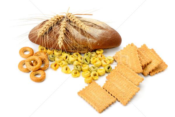 Tarwe producten geïsoleerd witte cookies ravioli Stockfoto © serg64