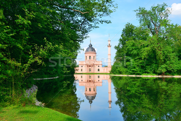 Majestic mosque on the lake  Stock photo © Serg64