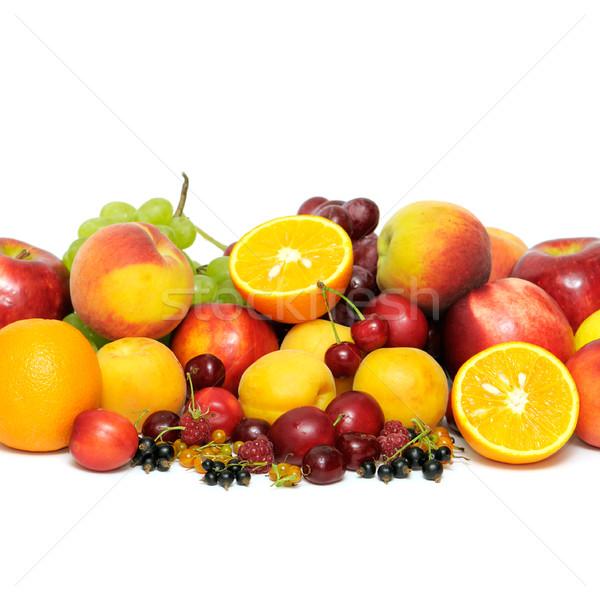 Vers vruchten appel groene citroen druiven Stockfoto © Serg64