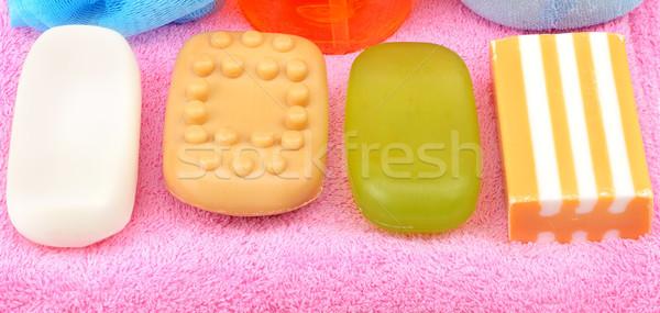 Soap on towel Stock photo © serg64