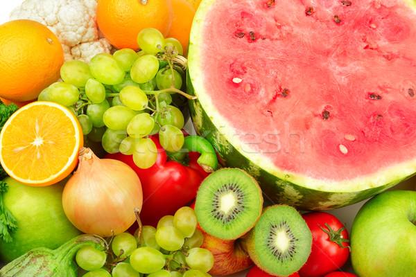 Vers vruchten groenten voedsel blad druiven Stockfoto © Serg64