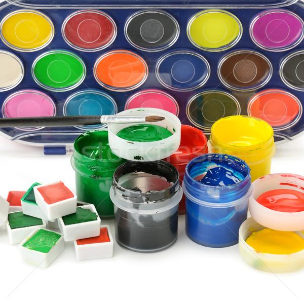 Set of paints Stock photo © Serg64
