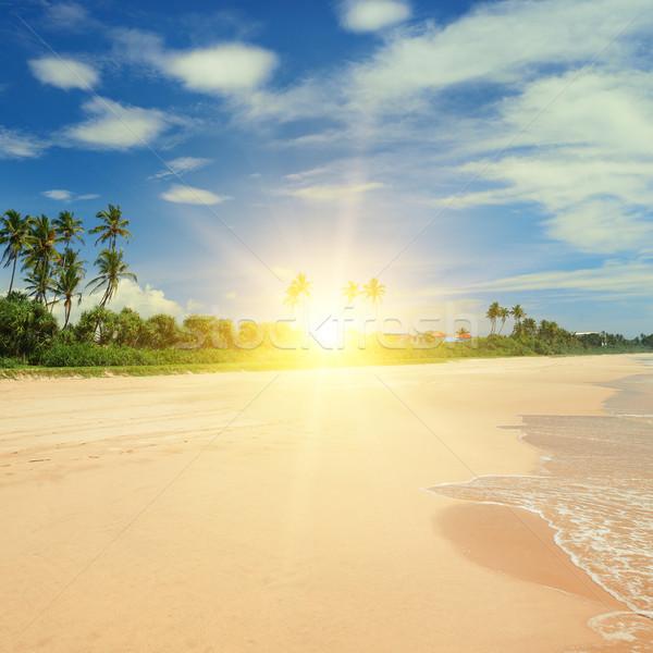 Belo nascer do sol mar praia água primavera Foto stock © Serg64