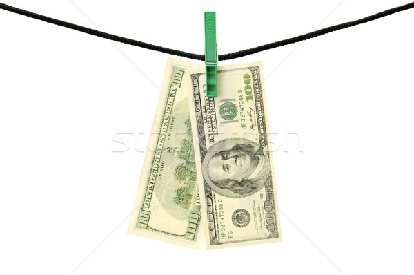 Dollars hanging on a string Stock photo © Serg64