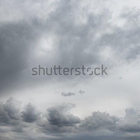 Nubes de tormenta nubes primavera sol luz fondo Foto stock © serg64
