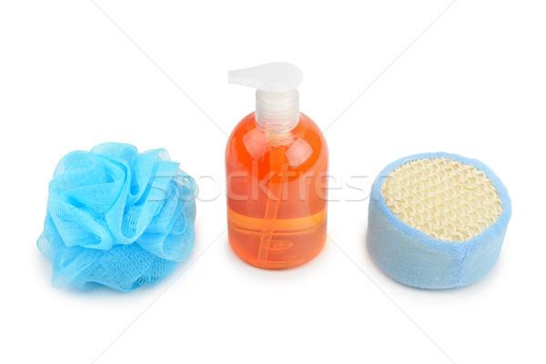 Shampoo spugna isolato bianco texture salute Foto d'archivio © serg64