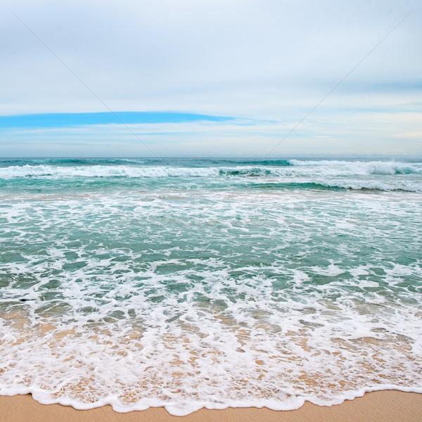 Ondas mar amarelo areia praia sol Foto stock © serg64