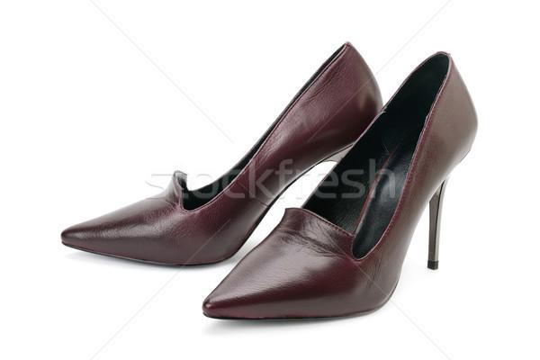 Women's high-heeled shoes isolated on white Stock photo © serg64