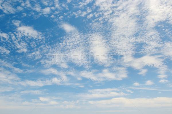 Wolken blauwe hemel voorjaar licht zomer Blauw Stockfoto © serg64