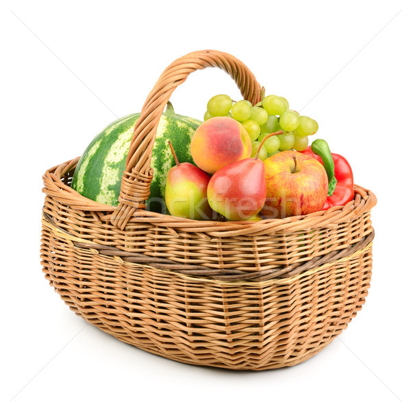 Frutas legumes cesta isolado branco fundo Foto stock © serg64