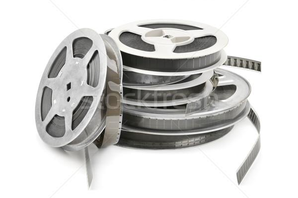 Сток-фото: старые · кинопленка · изолированный · белый · фильма · фон