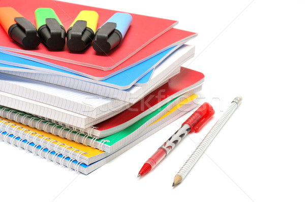 Notebook and felt-tip pen Stock photo © Serg64