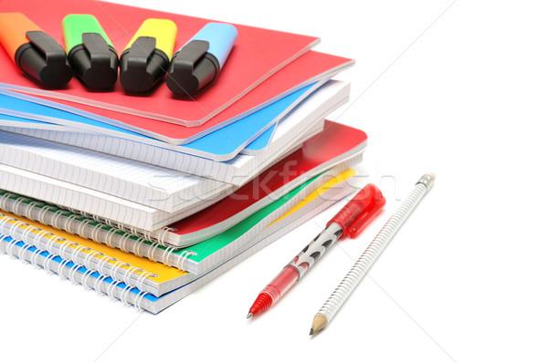 Stock photo: Notebook and felt-tip pen