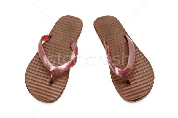 Stockfoto: Gymnasium · schoenen · zomer · geïsoleerd · witte · winkelen