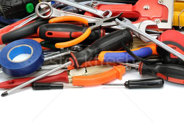 Ingesteld tools geïsoleerd witte werk home Stockfoto © serg64