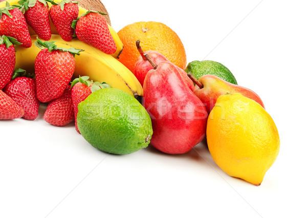 Vers vruchten geïsoleerd witte appel vruchten Stockfoto © serg64