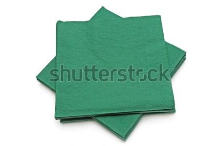 Verde isolato bianco carta sfondo ristorante Foto d'archivio © Serg64