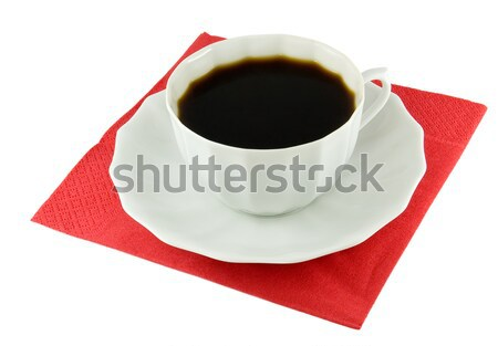 cup of coffee on a red napkin Stock photo © Serg64