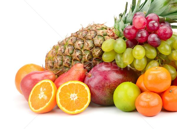 fresh fruits isolated on a white Stock photo © serg64