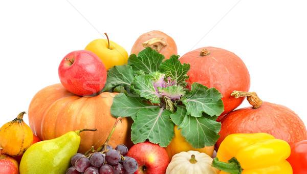 коллекция фрукты овощей изолированный белый виноград Сток-фото © serg64