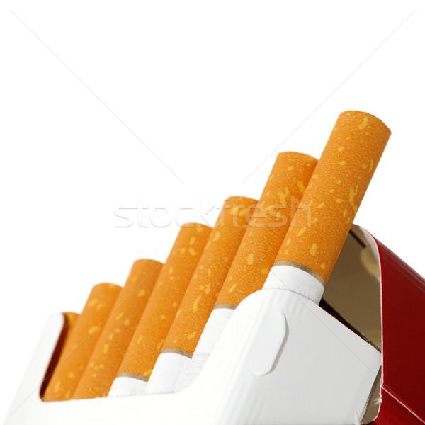 сигареты изолированный белый фон дым сигарету Сток-фото © Serg64