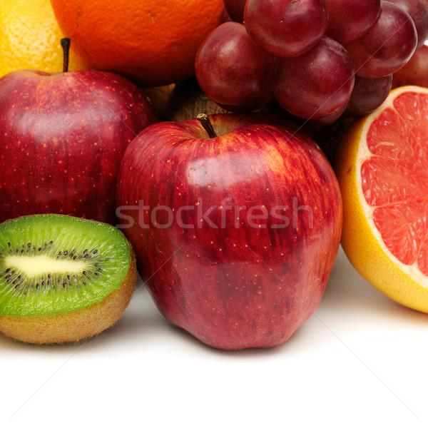 Vers fruit vruchten achtergrond zomer oranje foto Stockfoto © Serg64
